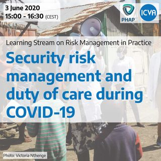 Security risk management and duty of care during COVID-19