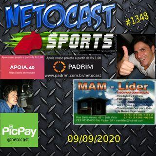 NETOCAST 1348 DE 09/09/2020 - ESPORTES - F1 - FUTEBOL