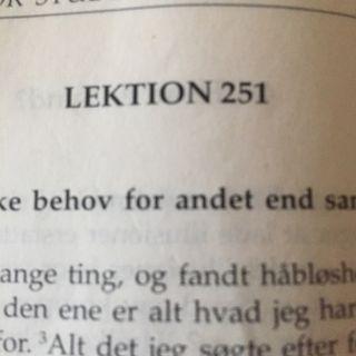 Lektion 251. Et kursus i mirakler.