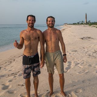 Dry Tortugas Artists-in-Residence Ian Wilson-Navarro and Austin Armstrong