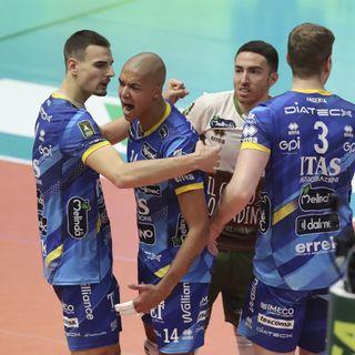 Nimir,Giannelli e Lorenzetti dopo il 3-1 a Modena