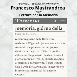 Letture brevi per la Memoria