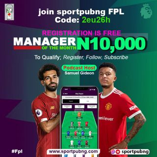 SportpubNG Presents: Fantasy Premier League!!!