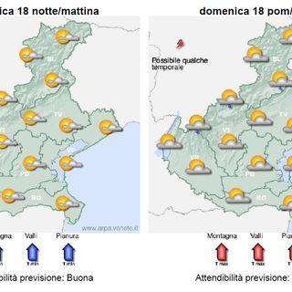 Previsioni meteo 16-18 luglio: Nuvolosità irregolare fino a domenica
