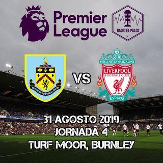 Burnley vs Liverpool en VIVO