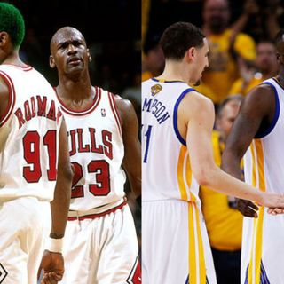 NBA Banter: 96 Bulls vs. 17 Warriors Who Wins? Did MJ Push Off? The Flu (Pizza) Game & More!