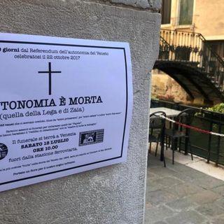 """A mille giorni dal referendum, sabato a Venezia il Partito dei Veneti fa il """"funerale"""" all'autonomia"""