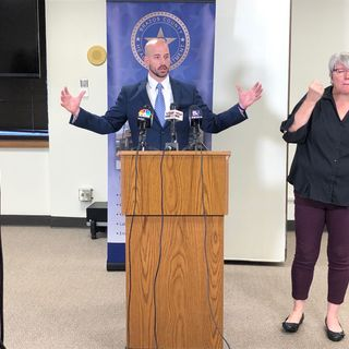 News conference of first coronavirus patient in Brazos County