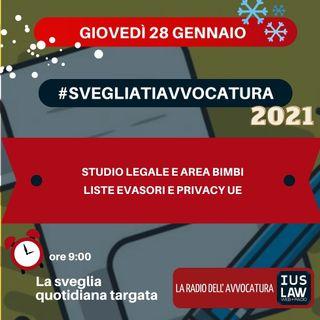 STUDIO LEGALE E AREA BIMBI – LISTE EVASORI E PRIVACY UE – #SVEGLIATIAVVOCATURA