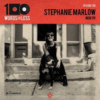 Stephanie Marlow, indie PR