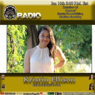 Quarantine Radio interview with Kristen Ellison