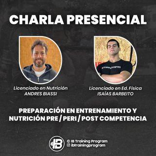 Preparación en entrenamiento y nutrición pre / peri y post competencia.