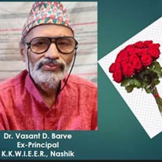 Conversation With Dr. Vasant Barve - Part 1