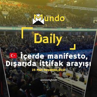 🇹🇷 İçerde manifesto, Dışarıda ittifak arayışı