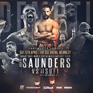 Huge Breaking Boxing Titlefight Billy Joe Saunders v Shefat Isufi For The WBO Super-Middleweight Title!!!