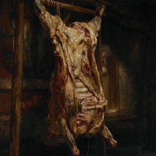 Luwr #9 – Rembrandt, Rozpłatany wół, sala 844