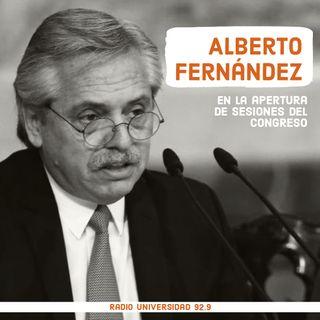 Lo que dejó el discurso de Alberto Fernández en la Asamblea Legislativa