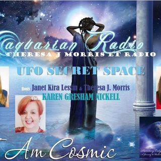 UFO Secret Space, TJ Morris ETRadio Reports, Janet Lessin, Karen Nickell,  TJ