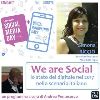 We are Social - stato del digitale nel 2017: lo scenario italiano