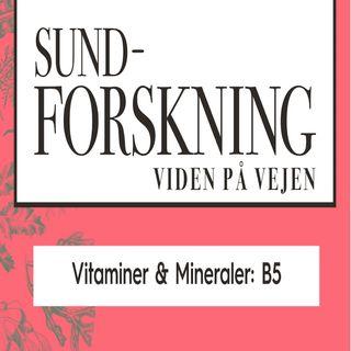 Vitaminer & Mineraler: B5 / Panthotensyre