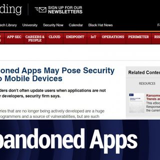 Security Risks of Abandoned Apps | TWiT Bits