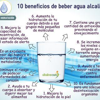Beneficios de tomar agua alcalina - Parte 2