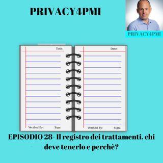 EPISODIO 28- Il registro dei trattamenti chi deve tenerlo e perché?
