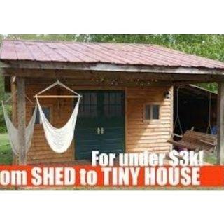 Sheds vs Tiny Houses: 619-768-2945