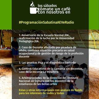 #ProgramaciónSabatinaAEVeRadio Aniversario de la Escuela Normal JDA