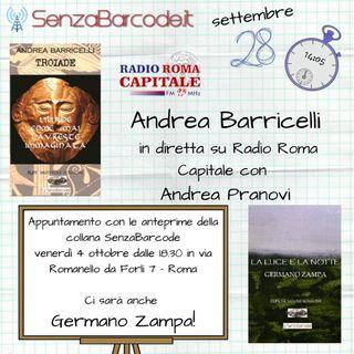 A Radio Roma Capitale, Andrea Barricelli, autore SenzaBarcode