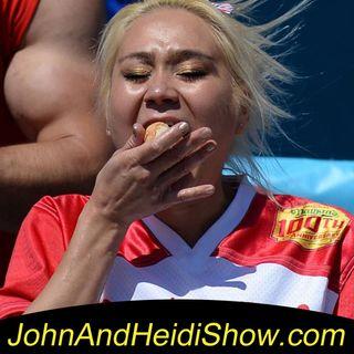 07-03-19-John And Heidi Show-MikiSudo-NathansHodDogChamp