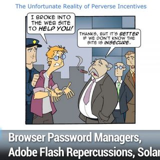 SN 803: Comparative Smartphone Security - Browser Password Managers, Adobe Flash Repercussions, SolarWinds