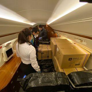 Así es el titánico esfuerzo de los pilotos dominicanos para traer material médico desde China