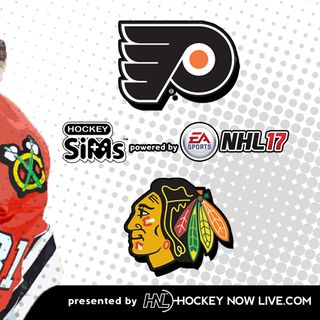 Flyers vs Blackhawks (NHL 17 Hockey Sims)