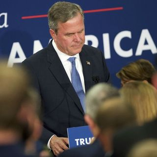 Donald Trump, Hillary Clinton win big; Jeb Bush drops out
