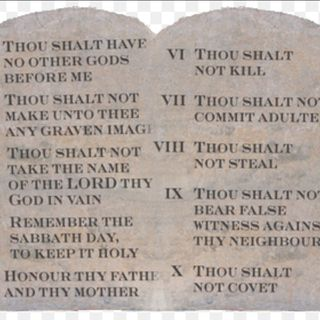 The Ten Commandments & cheating