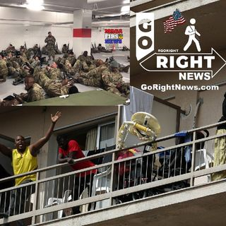 Outrage as the National Guard Sleeping In Parking Garage While Illegals Stay In Hotels