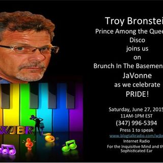 Troy Bronstein Celebrating Disco Music and Pride on Brunch In The Basement