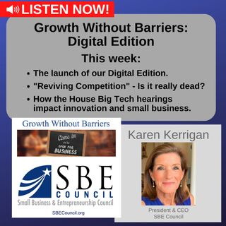NEW: Growth Without Barriers - DIGITAL EDITION: We discuss the latest Big Tech hearings in Congress.