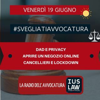 DAD E PRIVACY – APRIRE UN NEGOZIO ONLINE – CANCELLIERI E LOCKDOWN – #SVEGLIATIAVVOCATURA