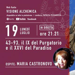 MARIA CASTRONOVO - 43-93, il IX del Purgatorio e il XXVI del Paradiso (1° Parte)