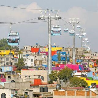 Inauguran el Cablebús Línea 2 en Iztapalapa, para conectar la zona oriente de la ciudad con el centro de la capital.
