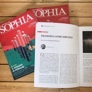 """""""La Chiave di Sophia"""", rivista di filosofia quotidiana. Ne parliamo con Elena Casagrande."""