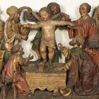 Il rilievo con il presunto 'martirio' di Simonino da Trento