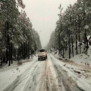 Cierran 12 tramos carreteros en Chihuahua por intensa nevada