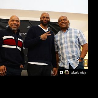 Lake Lewis Jr with Washington Redskins Greats Brian Mitchell and Ricky Ervins