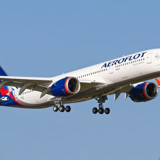 The first Airbus A350 of Aeroflot
