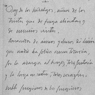 'Letanías de nuestro Señor Don Quijote' (Rubén Darío)