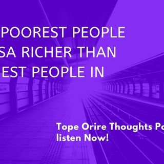 Are the poorest people in the USA richer than the richest in Nigeria?