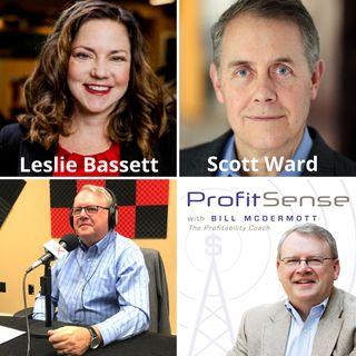 Leslie Bassett, Pridgen Bassett Law and Scott Ward, Corporate Real Estate Advisors (Profit Sense with Bill McDermott, Episode 19)